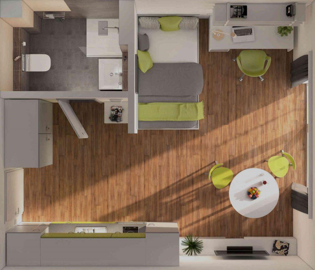 AA Apartments Grundriss